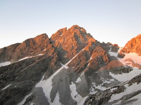 NW Couloir sunrise