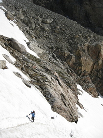 NW Couloir headwall approach