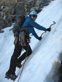 NW Couloir first pitch
