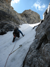 NW Couloir second pitch