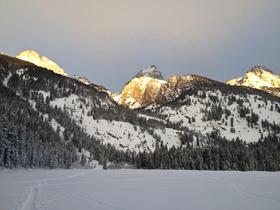 Exum ski tour sunrise bradley lake