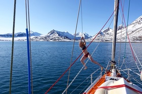 Svalbard bow of boat