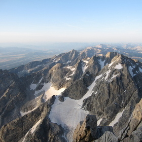 sunrise view of Middle teton from grand